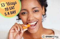 13 SUPER easy ways to get your #fruits and #veggies every day!   via @SparkPeople #nutrition #FitFood #health