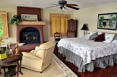 House of the Week: Bedroom at Mediterranean style house on Owasco Lake