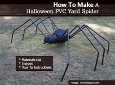 How To Make A Halloween PVC Yard Spider