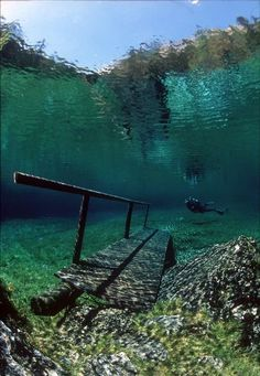 Styria, Austria- park that becomes a lake in the summer