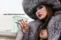 Oh... God just Look what Happened to My Nipples when I wear My Beautiful Soft Fur's. www.fetishmistressuk.com