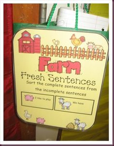 Fresh sentences- to sort complete sentences from incomplete sentences
