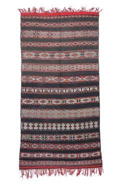 Moroccan Atbir Berber Shag Black Rug
