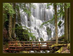 Ramona Falls, Mount Hood Wilderness, Oregon, USA
