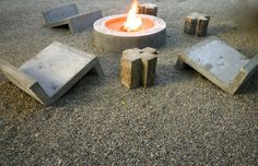 terrac, outdoor seating, fire pits, san jose, mexico, firepit, garden, concrete furniture, hotels