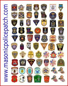 Masonic police patches