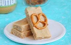 No bake, healthy Peanut Butter Pretzel Bars