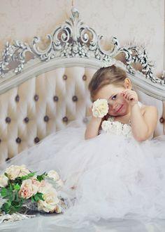 Newborn-3T White Flower Girl TuTu Dress, Holiday Dress, flower girl dress, tutu dress, wedding dress, elegant baby dress, flower girl dre