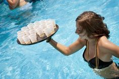Therapy Party, where you don't have to leave the pool to get a drink!