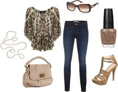 leopard, created by justine1541 on Polyvore