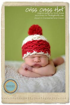Christmas baby hat photo prop
