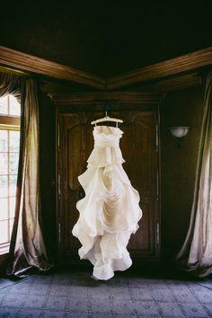 so many beautiful ruffles by http://www.verawang.com/ | Photography by heatherwaraksa.com |  Read more - http://www.stylemepretty.com/2013/06/07/ohio-wedding-from-heather-waraksa/