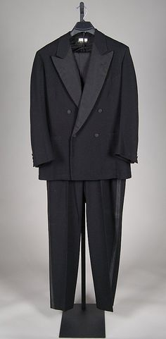 Black wool and silk tuxedo, by Brooks Brothers, American, 1948.