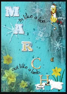 "August 2012 ATC - ""MARCH"" - Artist Trading Cards - Digital & Hybrid - Gallery - Scrap Girls Digital Scrapbooking Forum"