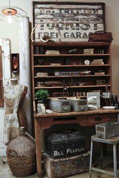 vintage postal desk
