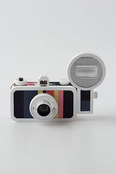 An analog, wide-angle camera, inspired by the design of the humble sardine can. No two are exactly alike. #LaSardinaCamera #GiveGreat #Anthropologie