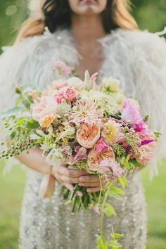Glamorous Bohemian Wedding Bouquet --> http://www.hgtvgardens.com/weddings/a-glamorous-bohemian-luxe-wedding?soc=pinterest&s=7