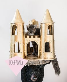 Dosfamily DIY Turn your vintage toy the My Little Pony Castle Into Pure Gold using Montana spray paint. By Jenny Brandt
