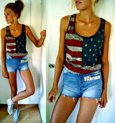 Fourth of July outfit.