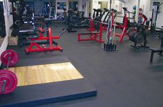 For the garage gym- 3/8 inch Rubber Gym Tiles - Interlocking Gym Floor