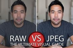 Raw vs JPeg - the ultimate visual guide..