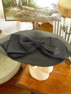 vintag hat, church hat, cartwheel hat
