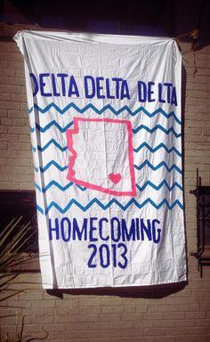 ΔΔΔ UofA Homecoming Banner