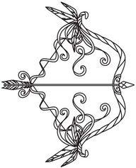 tattoo ideas, arrows, tattoos, embroideri design, bows, bow and arrow tattoo design, urban thread, embroidery designs, ink