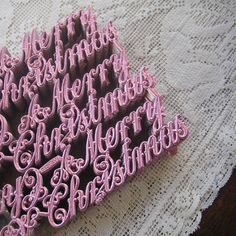 Dresden Script Made In Germany For a Pink Christmas vintag christma, pink christmas, candi christma, pink script, christma ornament