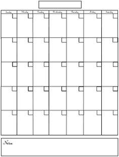 30 Blank Calendar – Printable Editable Blank