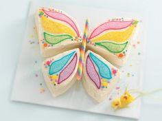 Butterfly spring cake perfect for a little girls.