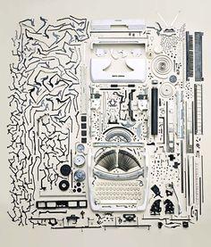 anatomy of a typewriter
