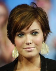 Short Hairstyles For Plus Size Women Over 50...when I think of plus size women over 50, I think of Mandy Moore.