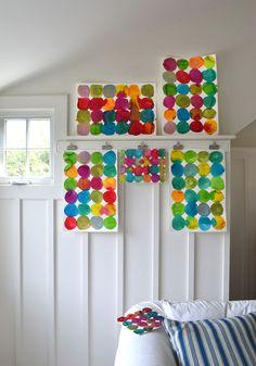 DIY Circle Painting for Kids.