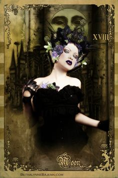 Tarot Card #tarot #tarotcard #themoon #zoetica #zoeticaebb #art #ettadiem #bethalynnebajema #bajema