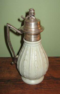 Antique English Saltglaze Porcelain or Pottery Syrup
