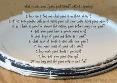 """What to ask your """"paint professional"""" before repainting - Inspire Me Heather"""