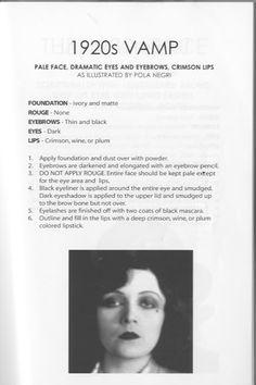 Makeup:1920's Vamp