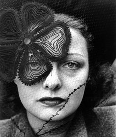 Alfred Eisenstaedt    Hat and veil by Lilly Dache, 1937