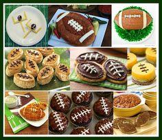 Football shaped food
