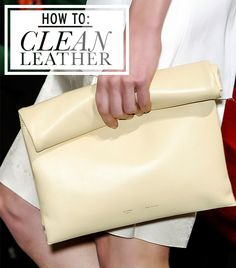 // how to clean leather