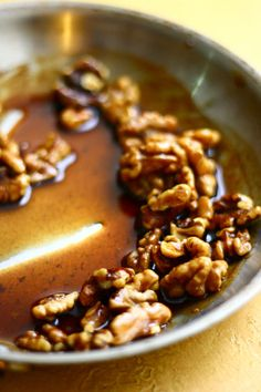 Cinnamon, Allspice, and Nutmeg make Sweet Spiced Candied Walnuts....