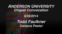 Watch campus pastor Rev. Dr. Todd Faulkner challenge students at chapel and take the ice bucket challenge. https://vimeo.com/105555838