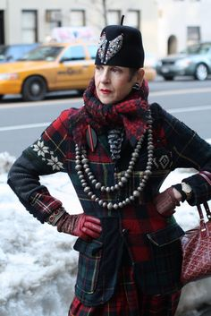I am so inspired by Advanced Style's blog about fashionable older women! I hope to dress like them when I'm older
