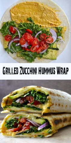 Grilled Zucchini Hummus Wrap - All About Health Food Recipes - All About Health Food Recipes