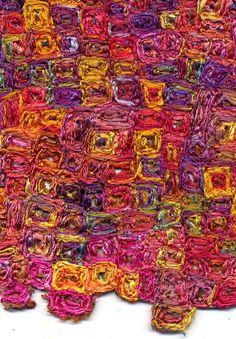 The Thread Studio, Australia /  an original fabric created by Dale Rollerson, owner/partner of The Thread Studio #fiberartnow colour, fiberart, studio design, studios, alter art, textil art, australia, fiber art, thread studio