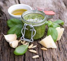 Basil walnut pesto and other wonderful spicy sauces.
