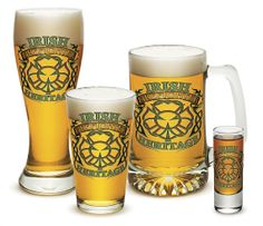 'Irish Firefighter Heritage' 4 Glass Set  | Shared by LION