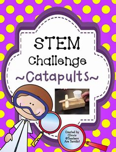 AWESOME STEM challenge- Build a catapult and then try it out with several performance tasks!