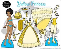 Marisole Monday: Yellow Princess  Paper Dolls
